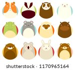 set of avatars icons in naive... | Shutterstock .eps vector #1170965164