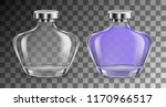 perfume glass empty and full... | Shutterstock .eps vector #1170966517