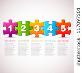 vector progress icons   one two ... | Shutterstock .eps vector #117097201