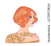 Illustration Of Flapper Girl....