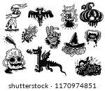 monster doodle tattoo  vector... | Shutterstock .eps vector #1170974851