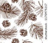 vintage pine illustration.... | Shutterstock .eps vector #1170975217