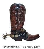 Vintage Cowboy Boots With Spurs ...