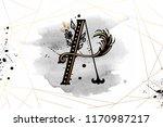 uppercase letter c with... | Shutterstock .eps vector #1170987217