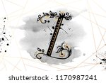 uppercase letter z with... | Shutterstock .eps vector #1170987241