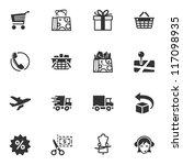 shopping icons   set 1 | Shutterstock .eps vector #117098935
