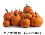 Heap Of Many Orange Pumpkins...