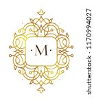 vector golden element  monogram ... | Shutterstock .eps vector #1170994027