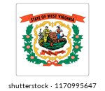 square state flag of west... | Shutterstock .eps vector #1170995647