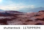 landscape on planet mars ... | Shutterstock . vector #1170999094