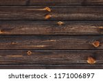 dark brown natural wooden wall... | Shutterstock . vector #1171006897