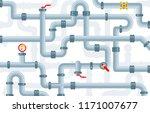 vector set of details ware... | Shutterstock .eps vector #1171007677