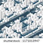 the isometric city with... | Shutterstock .eps vector #1171013947