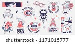 old school tattoo elements.... | Shutterstock .eps vector #1171015777