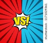 comic duel explosive concept... | Shutterstock .eps vector #1171029361