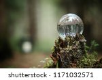crystal ball. magical accessory ... | Shutterstock . vector #1171032571