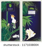 set of two templates for label... | Shutterstock .eps vector #1171038004