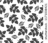 seamless pattern with black... | Shutterstock .eps vector #1171038421