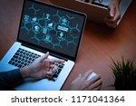machine learning technology... | Shutterstock . vector #1171041364