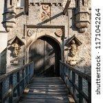 schloss lichtenstein gates to... | Shutterstock . vector #1171042264