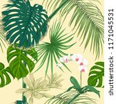 tropical plants and white... | Shutterstock .eps vector #1171045531