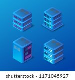 3d server set network... | Shutterstock .eps vector #1171045927