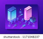 set of modern isometric... | Shutterstock .eps vector #1171048237