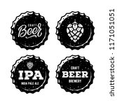 craft beer vintage emblem for... | Shutterstock .eps vector #1171051051