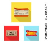 isolated object of ticket and... | Shutterstock .eps vector #1171055374