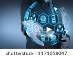 digital marketing media ... | Shutterstock . vector #1171058047