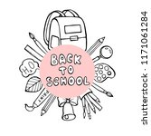 back to school banner with... | Shutterstock .eps vector #1171061284