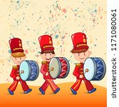red drummers concept background....   Shutterstock .eps vector #1171080061