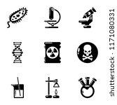 study biochemistry icons set.... | Shutterstock .eps vector #1171080331