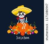 mexican dia de los muertos  day ... | Shutterstock .eps vector #1171080547
