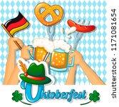 oktoberfest holiday concept...   Shutterstock .eps vector #1171081654