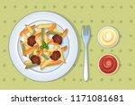 italian tasty pasta concept... | Shutterstock .eps vector #1171081681