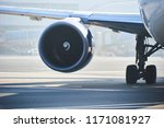 turbine of an airliner on the... | Shutterstock . vector #1171081927