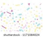 memphis style geometric... | Shutterstock .eps vector #1171084024