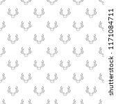 deer antler icon. outline... | Shutterstock .eps vector #1171084711