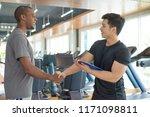 smiling black man thanking... | Shutterstock . vector #1171098811