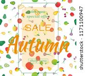 template for sale autumn ....   Shutterstock .eps vector #1171100947