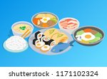 korean food clip art. isometric ... | Shutterstock .eps vector #1171102324