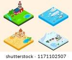 diverse climate clip art set.... | Shutterstock .eps vector #1171102507