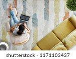 freelancer working from home ... | Shutterstock . vector #1171103437