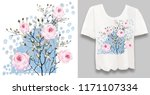 stylish  designer print on a t... | Shutterstock . vector #1171107334