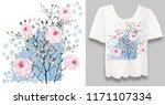 stylish  designer print on a t... | Shutterstock . vector #1171107334