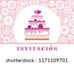 color card. invitation to a... | Shutterstock .eps vector #1171109701
