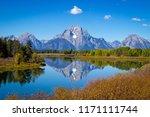 view of the grand teton... | Shutterstock . vector #1171111744