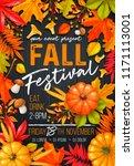 seasonal fall festival poster... | Shutterstock .eps vector #1171113001