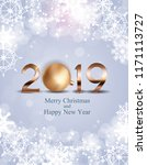 2019 new year background with... | Shutterstock .eps vector #1171113727